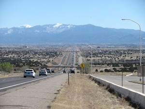 Interstate 25 approaching Santa Fe