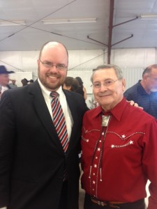 Justice Serna and me at the Catron County Fairgrounds in Reserve, New Mexico